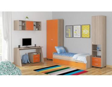 детская Дельта комплект №13 цвет дуб Сонома / оранжевый