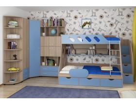 детская Дельта комплект №15 цвет дуб Сонома / голубой