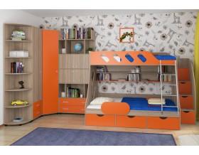 детская Дельта комплект №15 цвет дуб Сонома / оранжевый