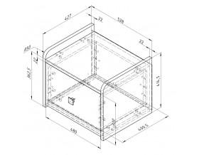 схема Дельта-24.4 Сильвер тумба прикроватная