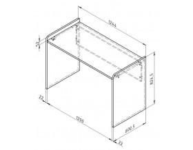размеры Дельта-15.3 Сильвер стол письменный