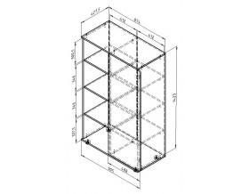 размеры Дельта-Лофт 13 шкаф комбинированный