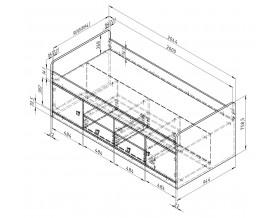 размеры Дельта-19.1 Сильвер кровать
