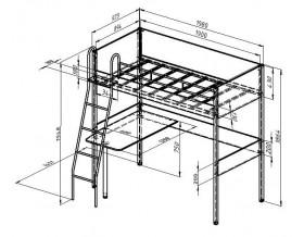 размеры Дельта-Лофт-20.02.01 кровать чердак