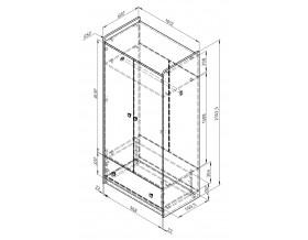 размеры Дельта-9 Сильвер шкаф 2-х дверный