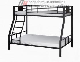 двухъярусная кровать Гранада-1 цвет чёрный на белом фоне