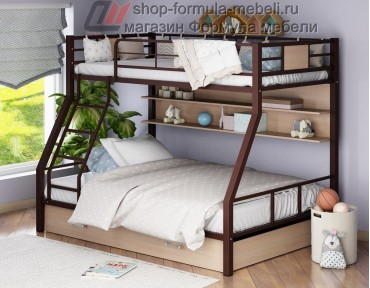 двухъярусная кровать Гранада-1 ПЯ цвет коричневый-дуб молочный