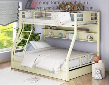 двухъярусная кровать Гранада-1 ПЯ цвет слоновая кость-крем