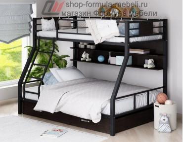 двухъярусная кровать Гранада-1 ПЯ цвет чёрный-венге