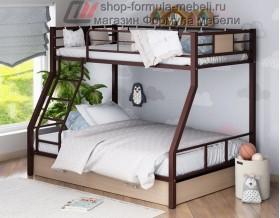 двухъярусная кровать Гранада-1 Я коричневый - дуб молочный