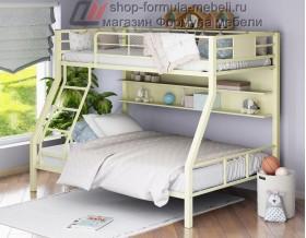 двухъярусная кровать Гранада-1 П (с полкой) цвет слоновая кость  - крем