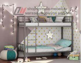 двухъярусная кровать Севилья-2 цвет серый, Формула мебели