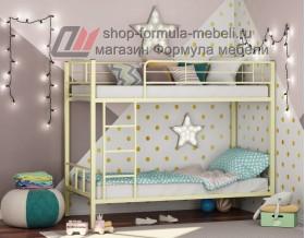 двухъярусная кровать Севилья-2 цвет слоновая кость (бежевый), Формула мебели