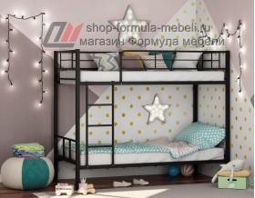 двухъярусная кровать Севилья-2 цвет чёрный, Формула мебели