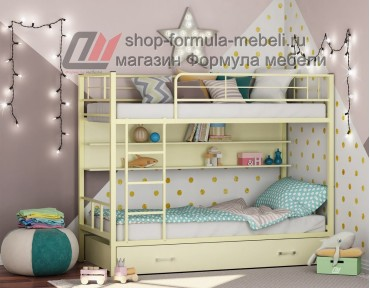 двухъярусная кровать Севилья-2 ПЯ цвет слоновая кость / крем