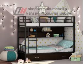 двухъярусная кровать Севилья-2 ПЯ цвет чёрный / венге