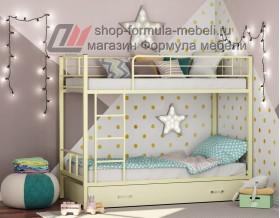 двухъярусная кровать Севилья-2 Я цвет слоновая кость / крем