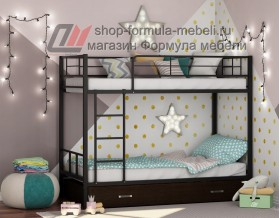 двухъярусная кровать Севилья-2 Я цвет чёрный / венге