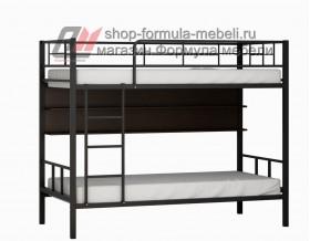 двухъярусная кровать Севилья-2 П цвет чёрный / венге на белом фоне