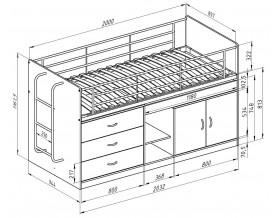 размеры кровать Дюймовочка-6