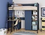 кровать-чердак Дельта Лофт комплект со шкафом